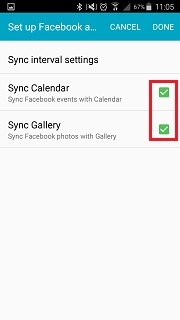 How do I sync S Planner with Facebook?