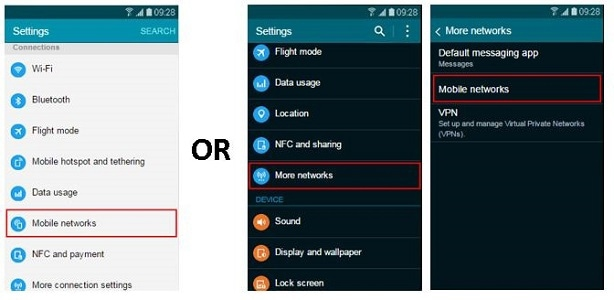How do I turn international data roaming on or off on my Samsung Galaxy device?