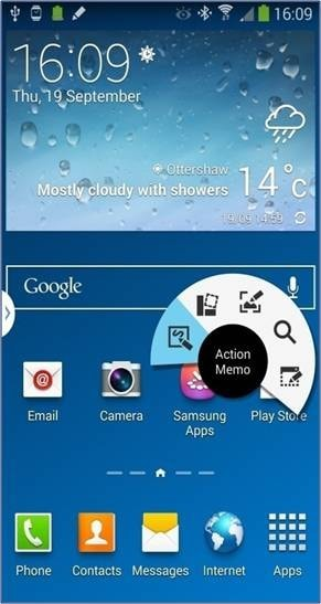 How do I use the Action Memo feature on my Samsung Galaxy Note 3?