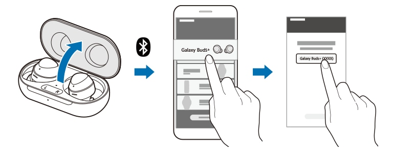 Tap the pop-up notification to pair Galaxy Buds with smartphone or tablet