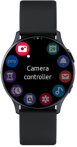 Launch the Camera Controller app on Galaxy Watch Active2