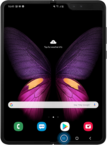 Tap the recent apps icon on Galaxy Fold