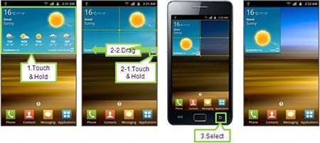 How to resize widgets on the Samsung Galaxy S II