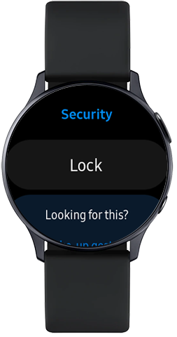 Tap Lock on Galaxy Watch Active2