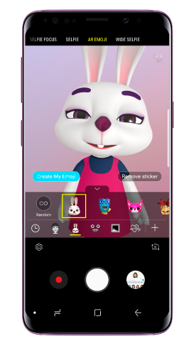 Camera app with live stickers