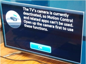 Can I still use voice control on my F Range Smart TV when its camera is off or hidden?