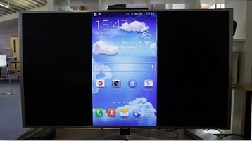 Device's screen will display on your TV