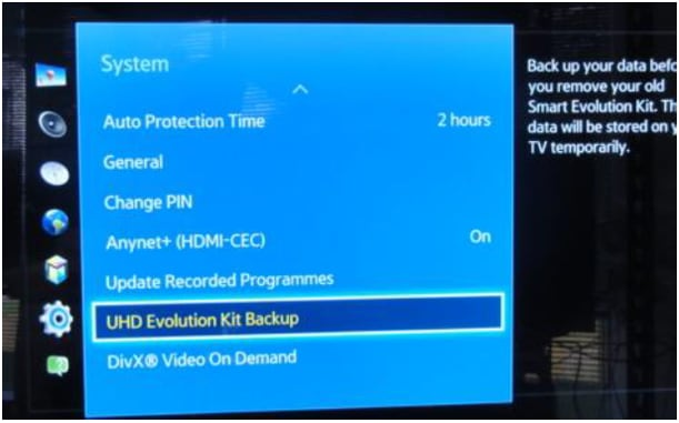 How do I link the SEK-2500 evolution kit to my Samsung 2013 UHD TV (Models F9000/UE8559)?