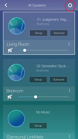 How do I sign out of my music streaming service in the Multiroom app?