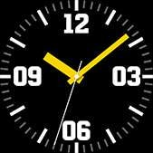Intrepid watch face in yellow