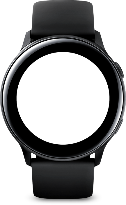 galaxy watch active apps icon face black
