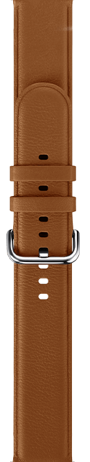 leather type brown color strap