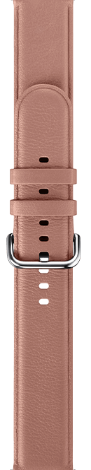 leather type pink color strap