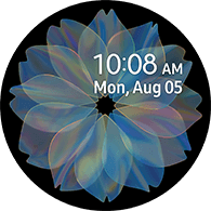 flower type blue color watchface