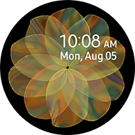 flower type yellow color watchface