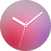 gradation type rose gold color watchface
