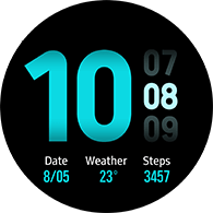 new dashboard type blue color watchface