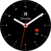simple analog type black color watchface