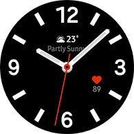 simple basic 4 type black color watchface