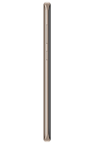 Left side view of Galaxy S8+ in Maple Gold