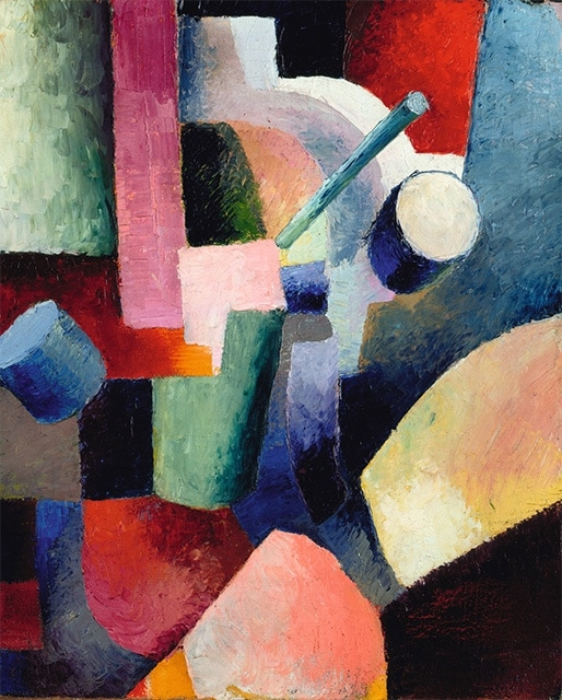 August Macke coloured Composition of Forms (1914)