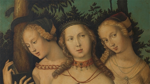 Hans Baldung Grien, Harmony (The Three Graces?). Detail (1541-1544)