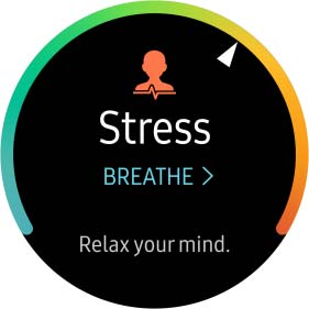 Stress gauge is above average. Relax your mind.