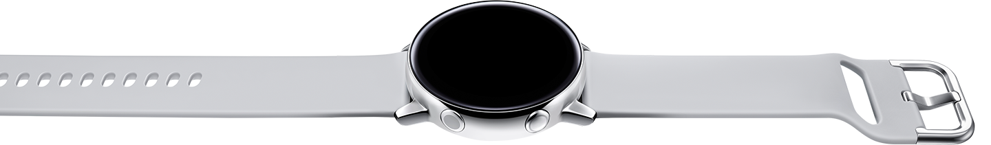 Galaxy Watch Active is charged quickly when placed on a wireless rechargeable battery pack.