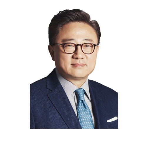 This image is a profile picture of Dong Jin Koh, CEO, Samsung Electronics.