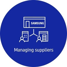 An icon for managing suppliers