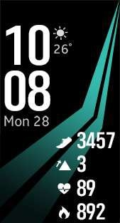 Fitness Pro 1 watch face in sky blue