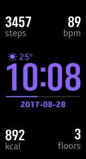 Fitness Pro 3 watch face in purple