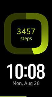 Step Count watch face in lime