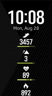Fitness Pro 4 watch face in lime