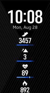 Fitness Pro 4 watch face in blue