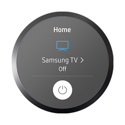 "Image of Samsung Connect app saying ""Samsung TV off"""