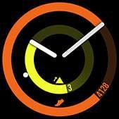 POP watch face in orange