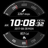 Activity Racer watch face in white