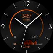 Active Rhythm watch face in orange