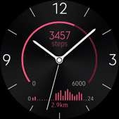 Active Rhythm watch face in pink