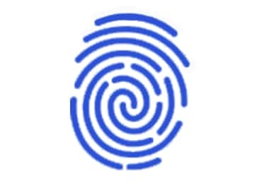 Samsung Fingerprint Logo In Blue
