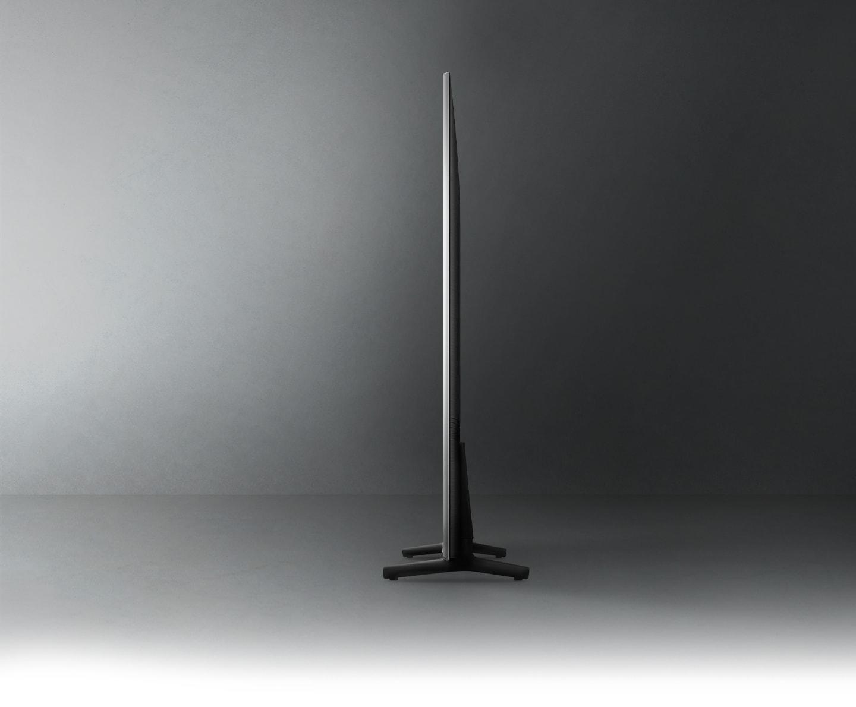 Profile view of QLED TV shows ultra slim design of QLED TV AirSlim.