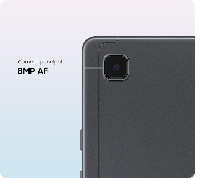 Un primer plano de la cámara principal AF de 8 MP del Galaxy Tab A7.