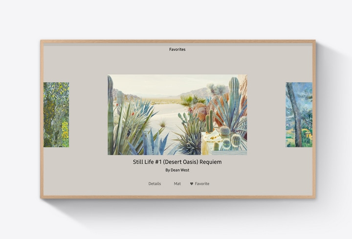 The Frame shows one of various artworks in its favorites folder.