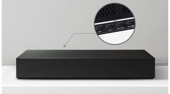 Closeup of One Connection Box shows its slim, minimalized design.