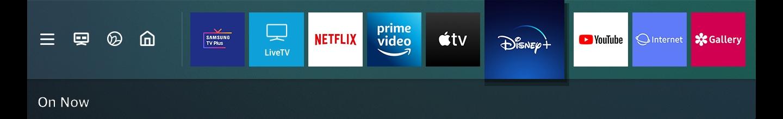 El proyector inteligente de Samsung tiene servicios OTT que brindan contenidos como YouTube, Netflix, Amazon Prime Video y Disney +.