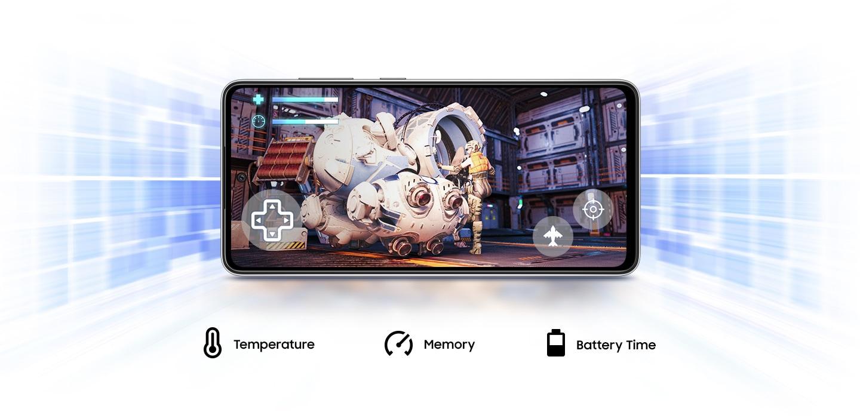 Galaxy A52s 5G te proporciona Game Booster que aprende a optimizar la batería, la temperatura y la memoria cuando juegas.