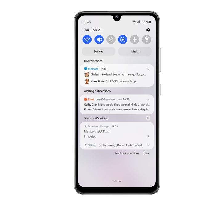 Une interface simple et minimaliste