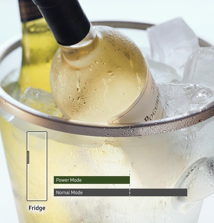 קירור מהיר של מזון ומשקאות לפי דרישה