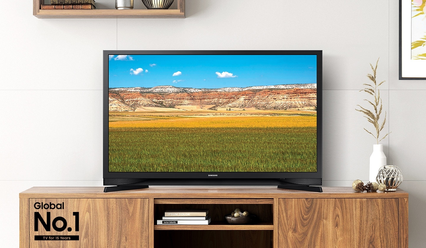 Samsung Global No.1 logo can be seen along with Samsung T4600 showing a natural landscape.